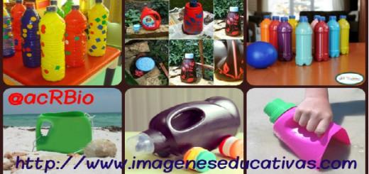 Juguetes reciclados para la playa y el jardín collage 2 Portada