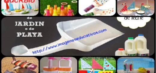 Juguetes reciclados para la playa y el jardín collage Portada
