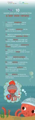 10 razones para animar a nuestros hijos a leer este verano.