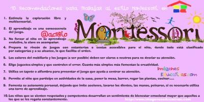 10 recomendaciones para trabajar al estilo Montessori en nuestra casa 2
