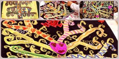 El arte en el aula trabajamos con Gustav Klimt  Collage