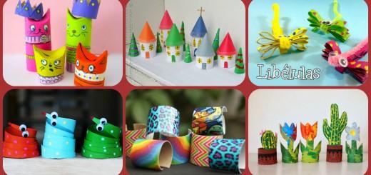 Manualidades con rollos de papel higiénico Collage