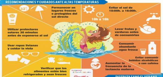 Recomendaciones y cuidados para este verano Infografía Portada