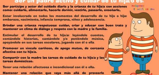 Ser un padre activo y cuidar de tu hij@ es Portada