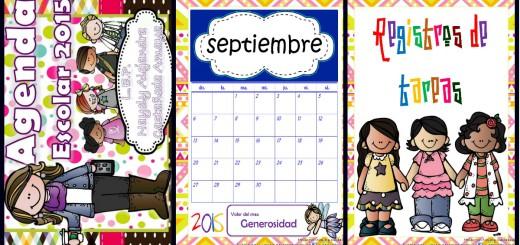 Agenda Escolar 2015-2016 Motivos melonheadz Portada