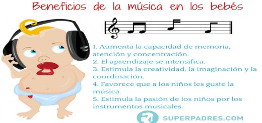 Beneficios de la música en los bebés Portada