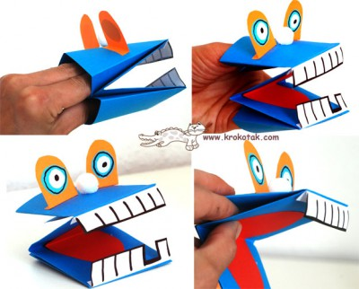 Marionetas de cartulina para manos (2)