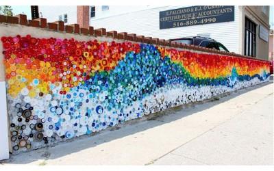 Murales con tapones de plástico (3)