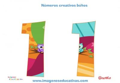 Números creativos Búhos 1 al 20 (11)