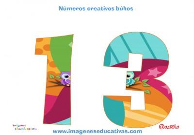 Números creativos Búhos 1 al 20 (13)