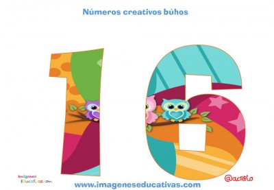 Números creativos Búhos 1 al 20 (16)