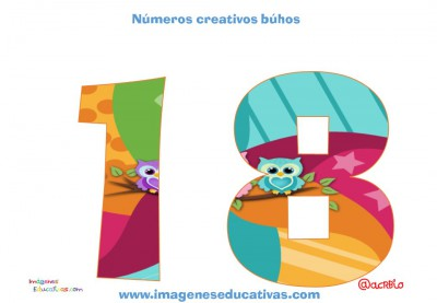 Números creativos Búhos 1 al 20 (18)