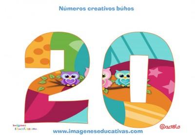 Números creativos Búhos 1 al 20 (20)