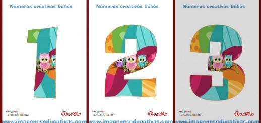 Números creativos Búhos 1 al 20 Portada