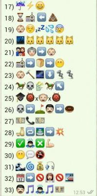 Refranes con emoticonos 2