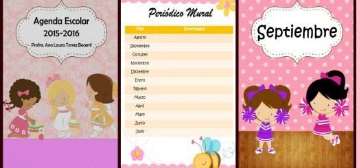 Agenda 2015 2016 Motivo niñas Portada 2