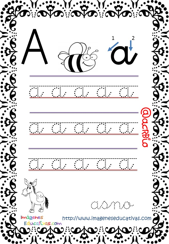 Cuaderno de trazos Imágenes Educativas letra escolar (1 ...