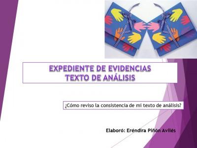 Expediente o portafolios de evidencias. Autoevalua tu texto de análisis (1)
