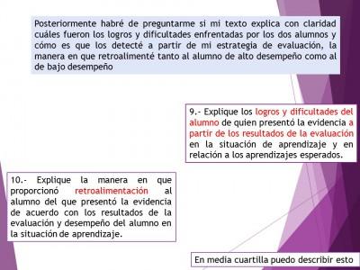 Expediente o portafolios de evidencias. Autoevalua tu texto de análisis (10)