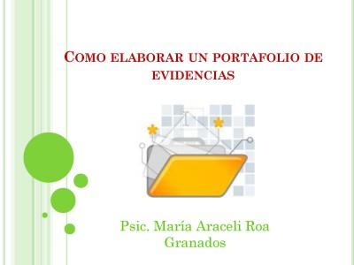 Manual para elaborar un portafolios de evidencias (1)