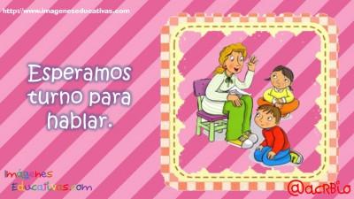 Normas para infantil, Preescolar y Primaria. Imprimibles Morado (4)