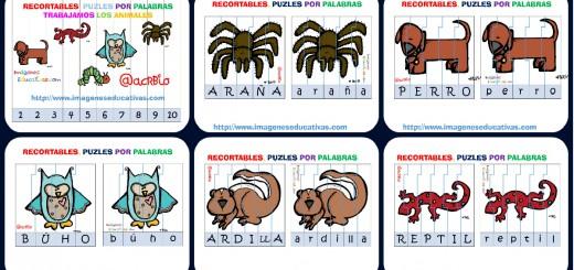Puzle por letras animales Portada