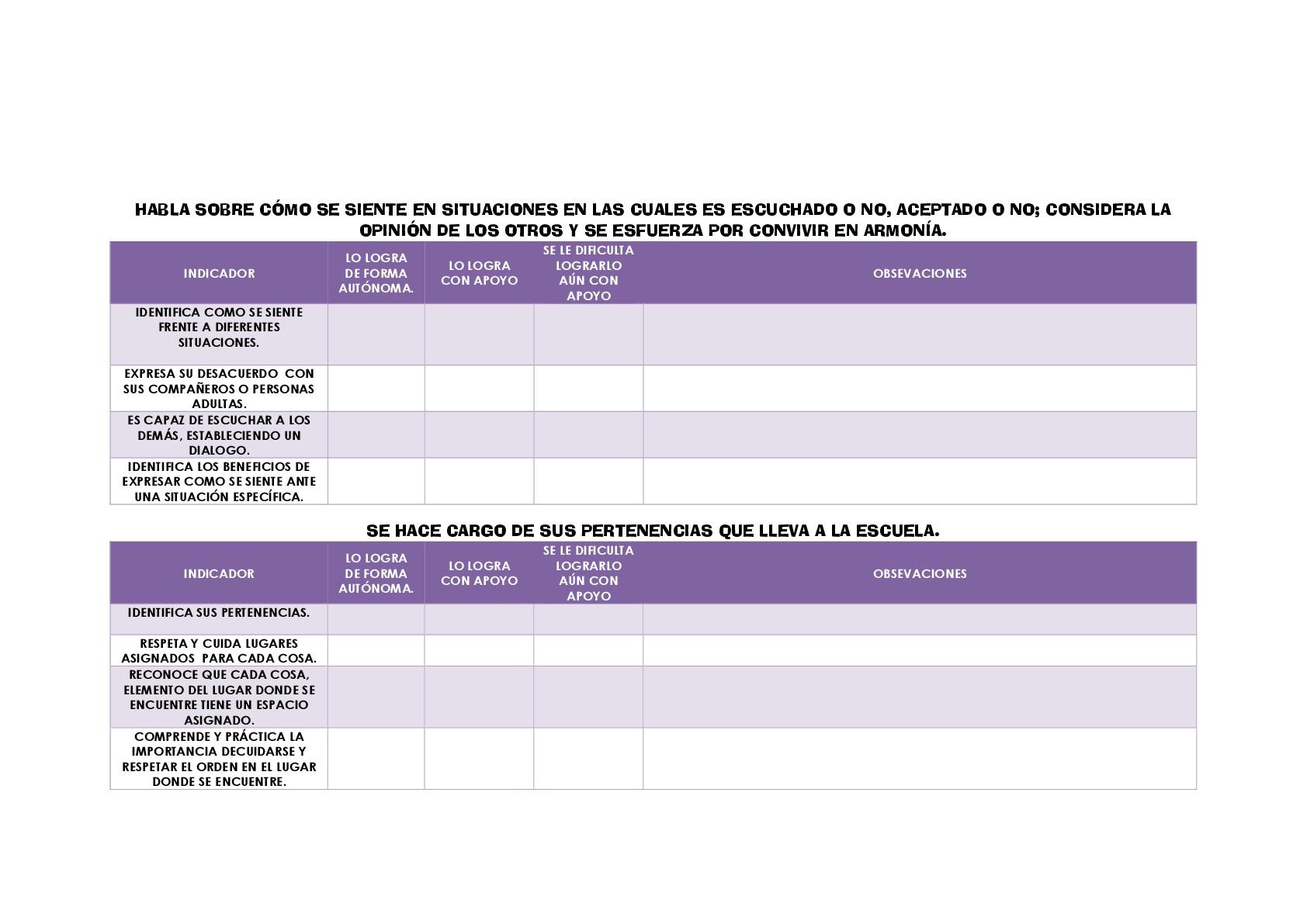 Rúbricas para evaluar: RÚBRICAS DE LENGUAJE Y COMUNICACIÓN Y ...