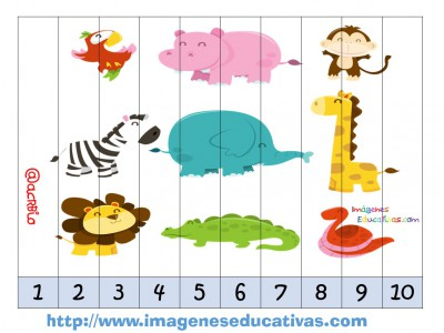 Recortables para imprimir. Puzles por números y letras (2)