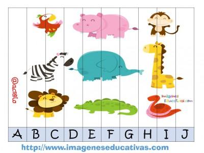 Recortables para imprimir. Puzles por números y letras (3)