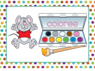 Tarjetas aprendemos los colores con en ratón Colorín (1)