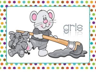 Tarjetas aprendemos los colores con en ratón Colorín (10)