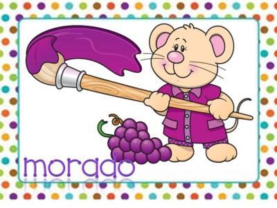 Tarjetas aprendemos los colores con en ratón Colorín (5)