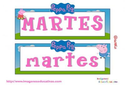Tarjetas días semana Peppa Pig (2)