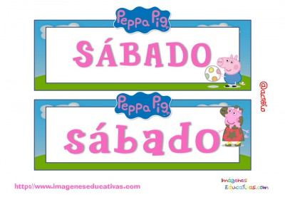 Tarjetas días semana Peppa Pig (6)