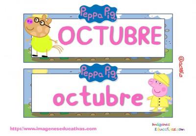 Tarjetas imprimibles Meses y estaciones Peppa Pig (11)