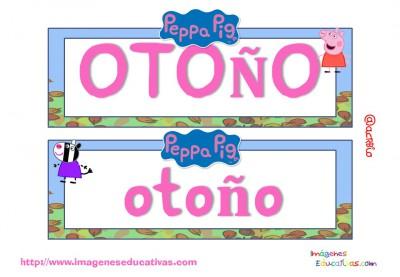 Tarjetas imprimibles Meses y estaciones Peppa Pig (14)