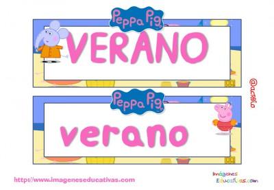 Tarjetas imprimibles Meses y estaciones Peppa Pig (17)