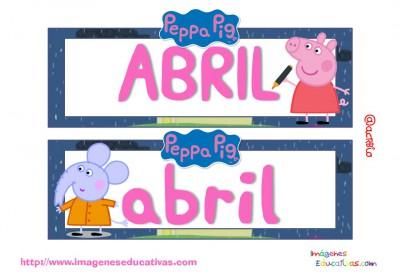 Tarjetas imprimibles Meses y estaciones Peppa Pig (5)