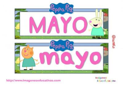 Tarjetas imprimibles Meses y estaciones Peppa Pig (6)