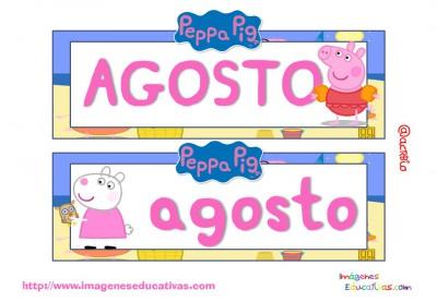 Tarjetas imprimibles Meses y estaciones Peppa Pig (9)