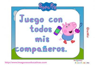Tarjetas normas de clase Peppa Pig (12)