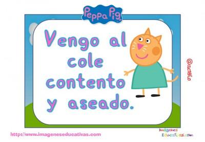 Tarjetas normas de clase Peppa Pig (13)