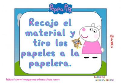 Tarjetas normas de clase Peppa Pig (14)