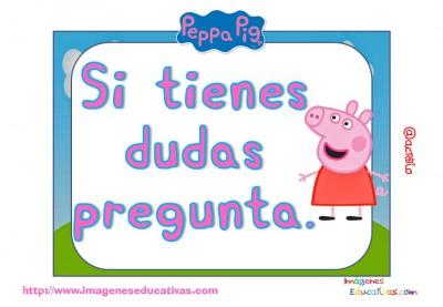 Tarjetas normas de clase Peppa Pig (3)