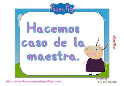 Tarjetas normas de clase Peppa Pig (5)