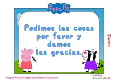 Tarjetas normas de clase Peppa Pig (6)