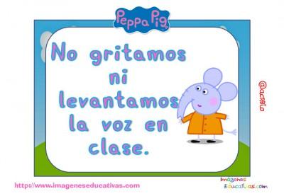Tarjetas normas de clase Peppa Pig (8)