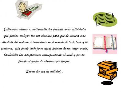 actividades que incentiven la lectura y escritura de manera divertida (0)