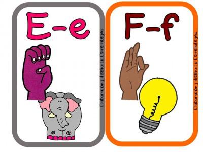 Alfabeto ilustrado en la lengua de signos para niños y niñas ...