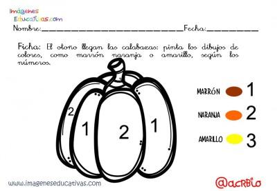 Coloreamos por números con motivos de otoño (4)
